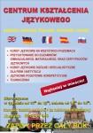 Plakat szkoła językowa A4